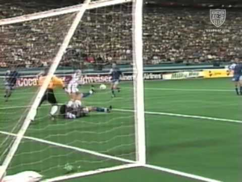 The USA takes on the Commonwealth of Independent States in at the Pontiac Silverdome outside of Detroit in an international friendly from 1992. Eric Wynalda ...
