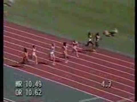 Florence Griffith-Joyner Seoul Olympics 1988 100m semifinal