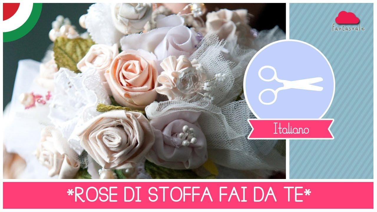 Bouquet da sposa diy come fare rose di stoffa senza for Tutorial fermaporta di stoffa