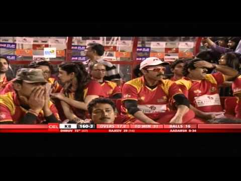 CCL4 Telugu Warriors Vs Karnataka Bulldozers 2nd Inn Match in Hyderabad - Part4
