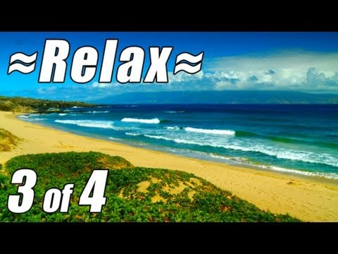 RELAXATION VIDEO #3 HD MAUI Best Beaches most relaxing Wave sounds Ocean videos relax travel 1080p