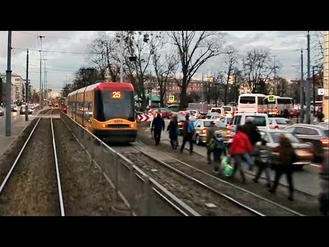 Korek Tramwajów W Warszawie / Tram Traffic Jam In Warsaw - TP14
