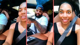 Kevin Gates Cutting Up In Traffic With His Wife Dreka Riding Through LA (2018)