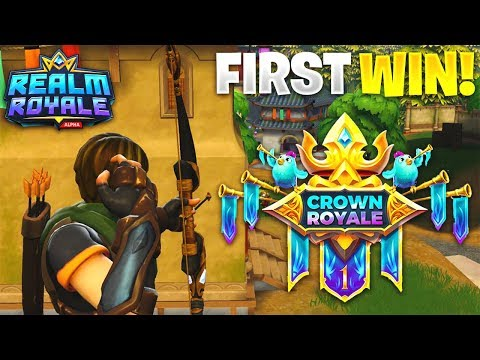 My FIRST WIN in Realm Royale! NEW Battle Royale Game