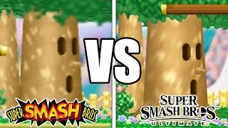 Super Smash Bros 64 & Melee Stages VS Smash Bros Ultimate Stages (GRAPHIC COMPARISON)
