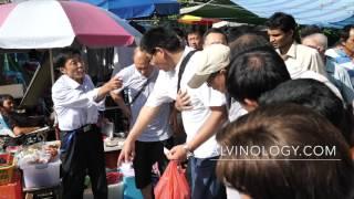 Near public fight at Sungei Road Flea Market in Singapore