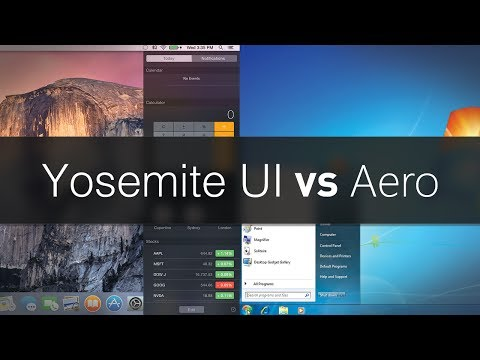 OS X Yosemite UI vs Windows Aero The Differences