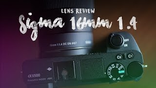 Sigma 16mm 1.4 DC DN Lens...Best Wide Angle Lens for the Sony a6500!