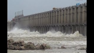 Water Level Increase In Jurala Project With Flood Water | 17 Gates Opend