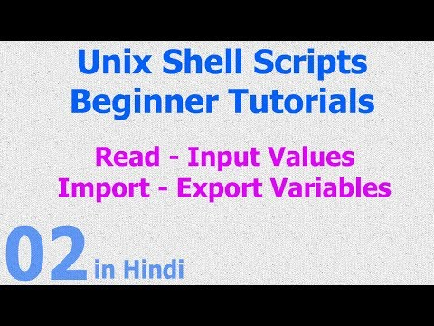 02 - Unix Shell Scripts - Read | Input Value - Datatypes - Variables