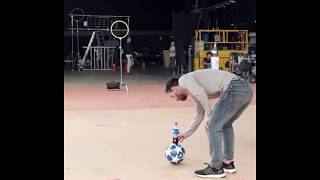 Lionel Messi || Pepsi bottle flipping ||