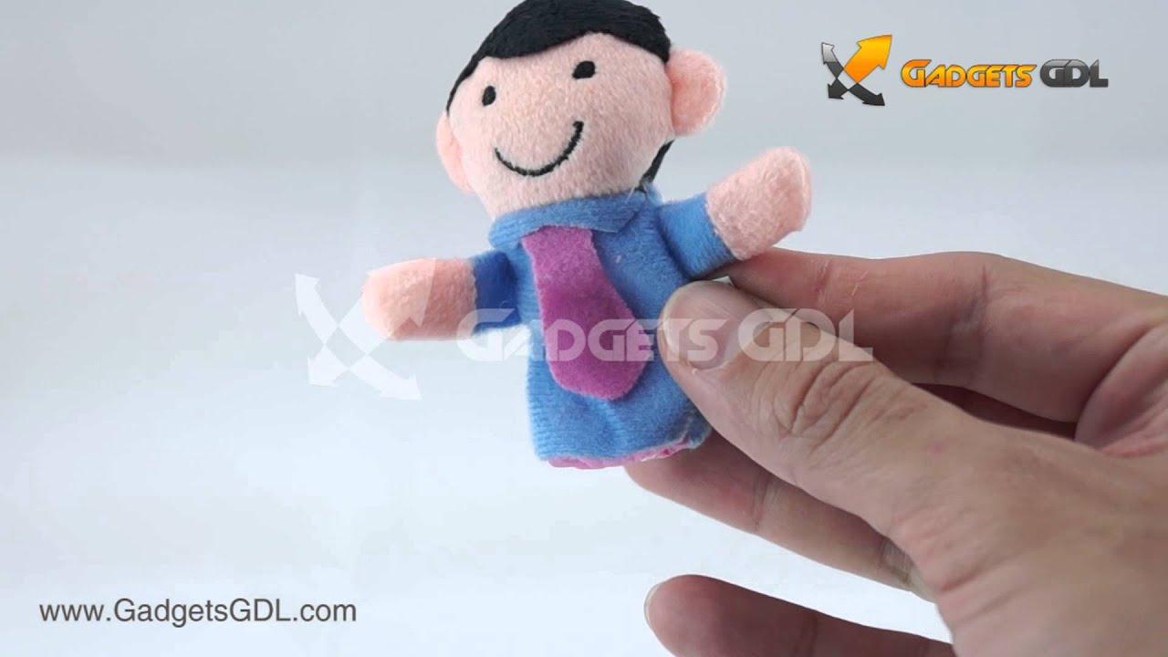 Set t teres para dedos tem tica familia youtube - Como hacer marionetas de mano ...