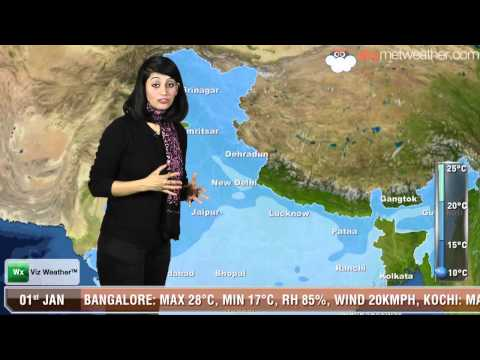 01/01/14 - Skymet Weather Report for India