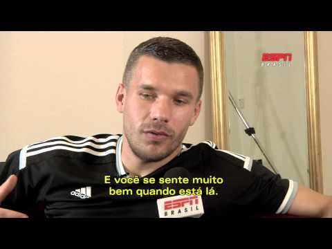 Lukas Podolski exclusivo para ESPN-BRASIL