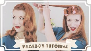 Essentially drunk hair rolling... // Ridiculously Easy Vintage Hair Tutorial