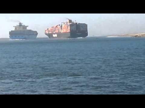 Столкновение контейнеровозов в Суэцком канале 29 сентября 2014
