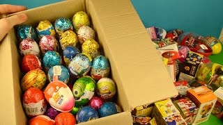 100 surprise eggs, Unboxing Kinder Surprise