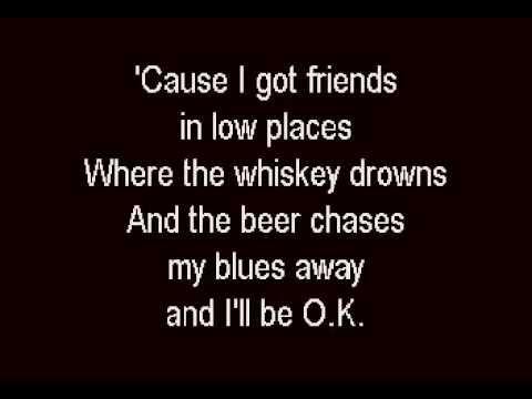 Garth Brooks - Friends In Low Places - Karaoke