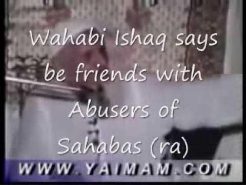 Wahabi(ahle hadith)scholar Molvi Ishaq abusing Sahaba