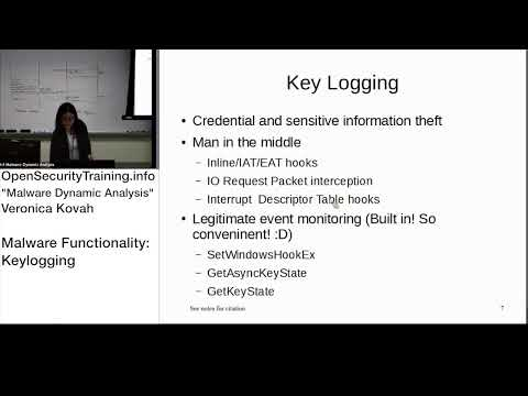 Dynamic Malware Analysis D2P16 Malware Functionality Keylogging Overview