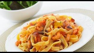 Паста (макароны) с креветками