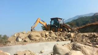 Heavy Excavator Loading Earth On Tractor. Amazing Work