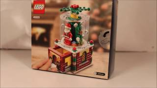 40223 Limited Edition Lego Snow Globe speed build and unboxing