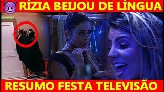 NOVO CASAL? Madrugada da FESTA TELEVISÃO no BBB19 é MARCADA de BEIJO e DR FEIA entre Paula e Hariany