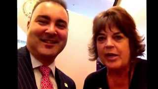 Nathan Manzaneque with Christinne Bennett, BNI HQ #BNIConf