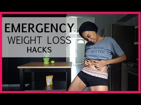 WEIGHT LOSS EMERGENCY LAST MINUTE HACKS | HOW TO LOSE BELLY FAT