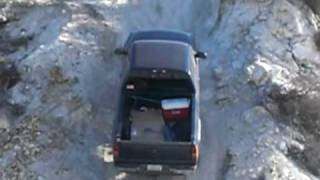 Chevy Siverado Z71 OFF ROAD CLIMBING A VERY STEEP HILL
