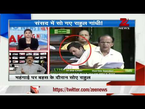 Rahul Gandhi falls asleep in Parliament