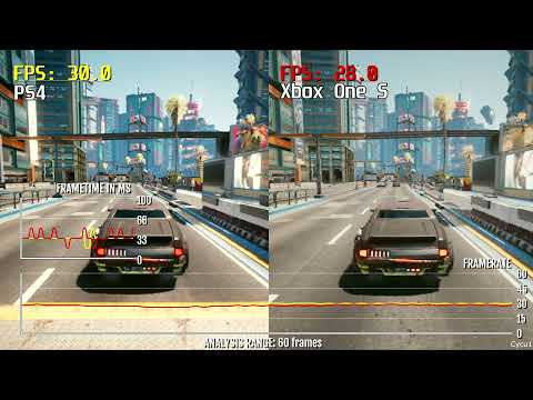 Cyberpunk 2077 PS4 vs Xbox One S Patch 1.23 Frame Rate Test