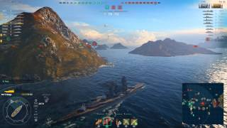 World of Warships tier 5 Japanese Battleship - Kongo - gameplay