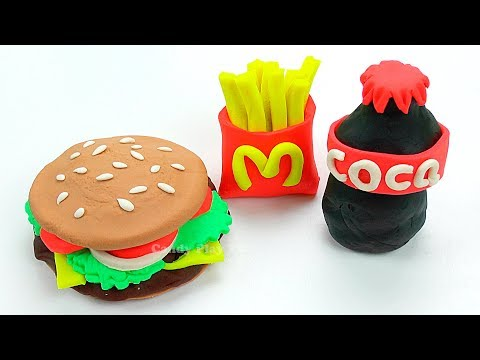 Play Doh McDonald's Hamburger Fries Coca-Cola Restaurant Playset | Learn Colors Play Doh for Kids