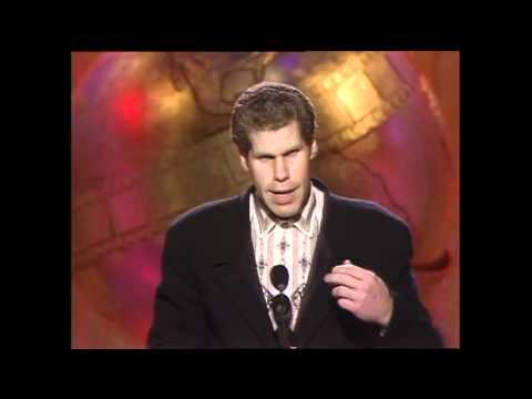"""Ron Perlman wins the Best Actor in a TV Series Drama award for """"Beauty and the Beast."""" The award is presented by Valeria Golino & Peter Strauss. In his thank you speech, Ron Perlman says that..."""