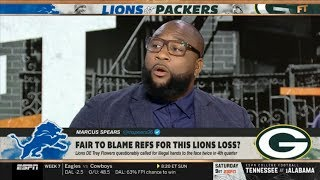 "FIRST TAKE | Marcus Spears ""STRONG"" react to Monday Night Football: Packers def. Lions 23-22"