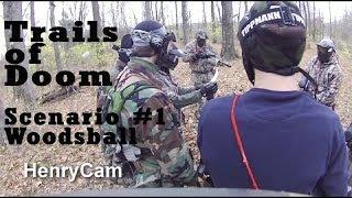 First Person Shooter Scenario Woodsball Paintball War Trails of Doom Headshot Assassin Ninja