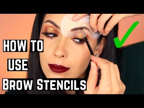 How To Use an Eyebrow Stencil Tutorial & Review   Helpful Tips and Tricks for Perfect Brows