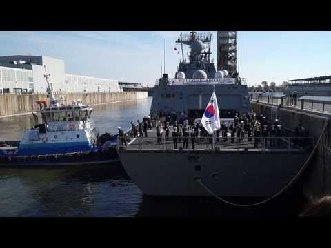 South Korean Navy Destroyer ROKS Dae Jo Yeong Berths In Old Port Of Montreal 14
