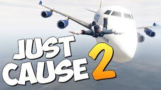 GTA 5 Mods : Just Cause 2 - САМОЛЕТ VS ПОЕЗД