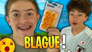 LA BLAGUE DES BALLES DE PING PONG SUR FORTNITE !!! Ft Inoxtag