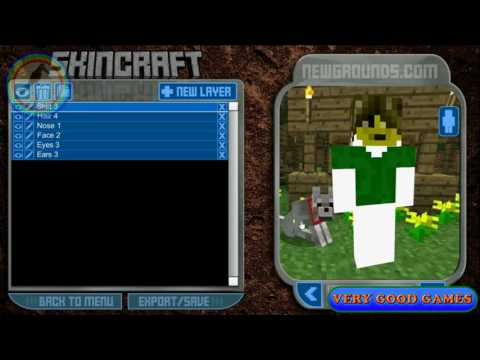 How to make a skin in Minecraft Skincraft, pre made templates