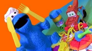 Play Doh Chef Coe Monster Eats Pizza Lunch Box 123 Mold 'n Go Sdway Playdough Mater Cars Pixar
