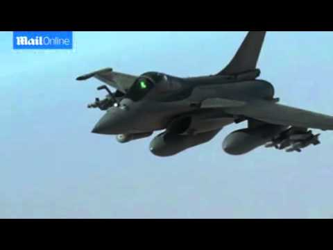 France Air force Jet Bombs ISIS Command Center