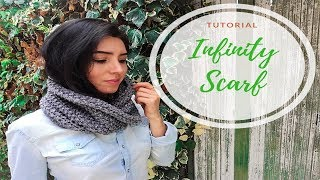 HOW TO MAKE AN INFINITY SCARF - TUTORIAL STEP BY STEP FOR BEGINNER [LOOM KNITTING DIY]