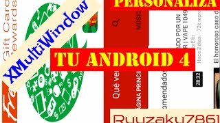 XMultiWindow - Pesonaliza tu Android 4 ( Multiventana )