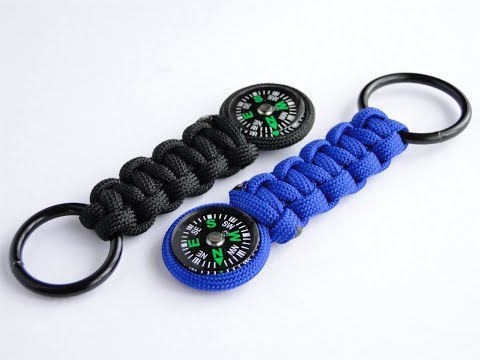 How to Make a Simple Paracord Compass Keychain-Cobra Weave