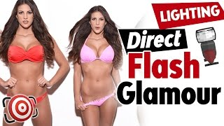 How to Shoot a DIRECT FLASH Glamour Shot or Beauty Portrait - Lighting Tutorial