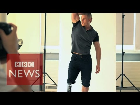 'I never thought I'd be a model' says Paralympic athlete - BBC News